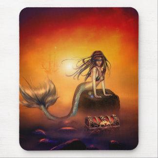 The Mermaids Treasure Mouse Pad