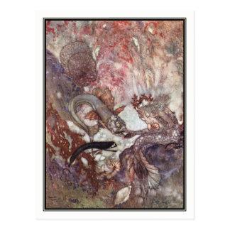 The Merman King by Edmund Dulac Postcard