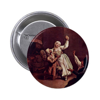 The Merry Couple By Longhi Pietro (Best Quality) Pinback Button