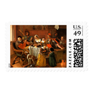 The Merry Family. Fine Art Postage Stamps