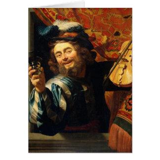 The merry Fiddler - Van Honthorst Card