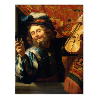 The Merry Fiddler - Vintage Motive - Honthorst Postcard