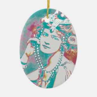 The Merry Widow Belle Epoque Design Ceramic Ornament