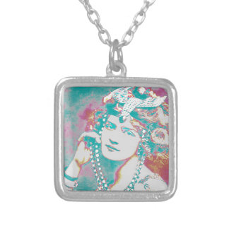 The Merry Widow Belle Epoque Design Silver Plated Necklace