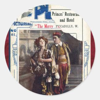 The Merry Widow Classic Round Sticker