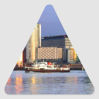 The Mersey Ferry & LIverpool Waterfront Triangle Sticker
