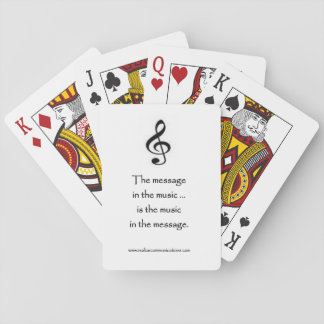 The Message in the Music PLAYING CARDS