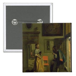 The Messenger, c.1669 Pinback Button