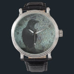 """The Messenger ID249 Watch<br><div class=""""desc"""">Highlighted black crow on fantastic,  textured grunge background. Search ID249 to see additional products with this design.</div>"""