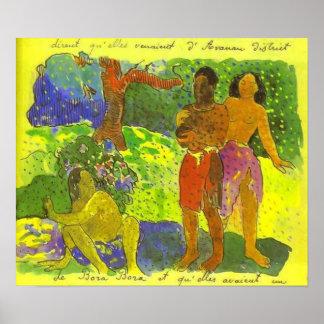 'The Messengers of Oro' - Paul Gauguin Print