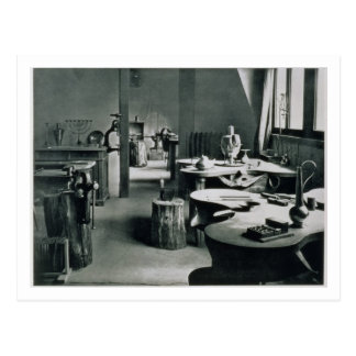 The Metal Workshop, from the Workshops of the Bauh Postcard