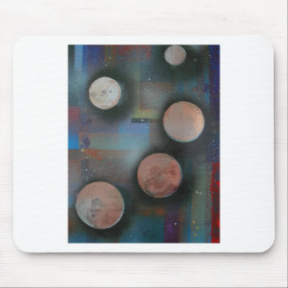 The metallic moons mouse pad