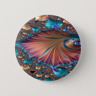 The Metamorphosis of Love Fractal Abstract design Pinback Button