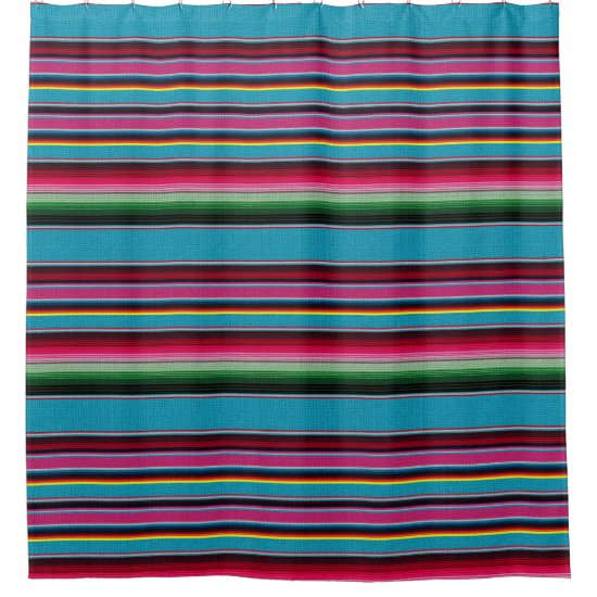 The Mexican Blanket Shower Curtain