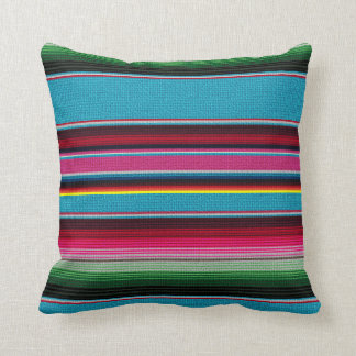 The Mexican Blanket Throw Pillow