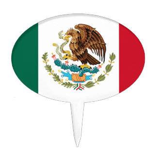 The Mexican national flag - Authentic high quality Cake Picks
