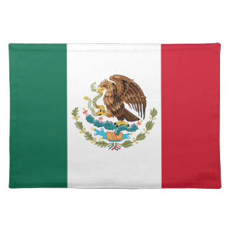 The Mexican national flag - Authentic high quality Place Mat