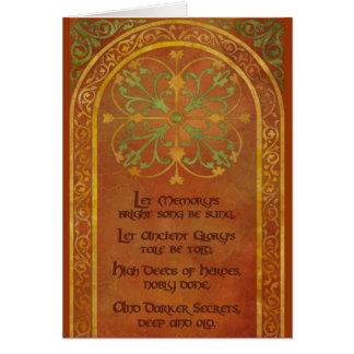 The Mhoren Poem Card