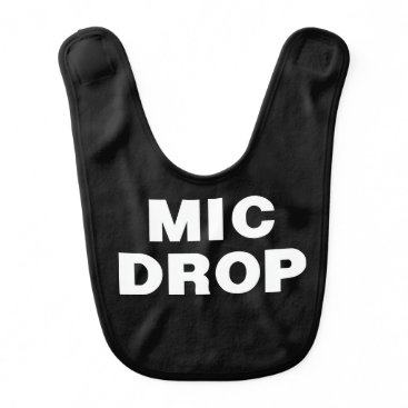 Beach Themed THE MIC DROP bib from the Remix Encore Mic Drop