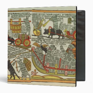 The Mice Bury the Cat, Russian, late 18th century 3 Ring Binder