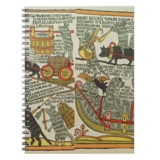 The Mice Bury the Cat, Russian, late 18th century Notebook
