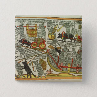 The Mice Bury the Cat, Russian, late 18th century Pinback Button