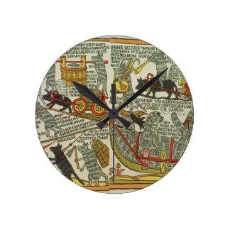 The Mice Bury the Cat, Russian, late 18th century Round Clock