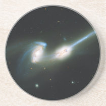 The Mice Galaxies NGC 4676 Colliding and Merging Drink Coaster