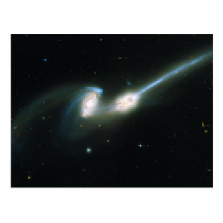 The Mice Galaxies NGC 4676 Colliding and Merging Postcard
