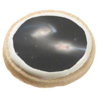 The Mice (NGC 4676) Round Shortbread Cookie