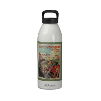 The Michelin Tires ~  Defeated The Rail 1905 Reusable Water Bottles