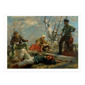 The Midday Rest (Sailors Yarning), 1906 (oil on ca Postcard