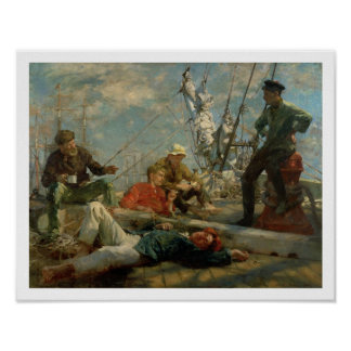 The Midday Rest (Sailors Yarning), 1906 (oil on ca Poster