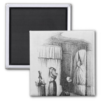 The Middle-Aged Lady in the Double-Bedded Room 2 Inch Square Magnet