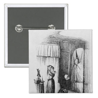 The Middle-Aged Lady in the Double-Bedded Room Pinback Button