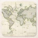 """The Middle Barometer Square Paper Coaster<br><div class=""""desc"""">Ubersicht Der Mittleren Barometerstande Am Meere Und Der Oscillationen. By Berghaus,  Heinrich (183). Published by &#39;&#39;Gotha: Justus Perthes&#39;&#39;.</div>"""