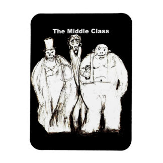 The Middle Class fridge magnet
