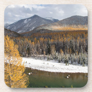 The Middle Fork Of The Flathead River Beverage Coaster