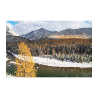 The Middle Fork Of The Flathead River Stretched Canvas Prints