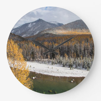 The Middle Fork Of The Flathead River Wallclocks