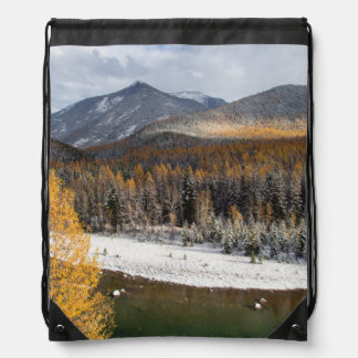 The Middle Fork Of The Flathead River Drawstring Backpack
