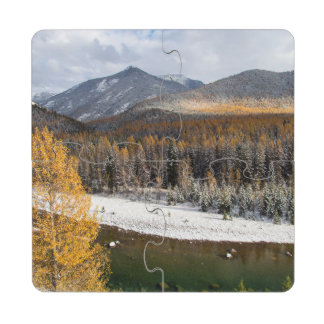 The Middle Fork Of The Flathead River Puzzle Coaster