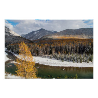 The Middle Fork Of The Flathead River Poster