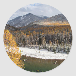 The Middle Fork Of The Flathead River Classic Round Sticker