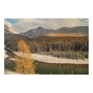 The Middle Fork Of The Flathead River Wood Wall Art