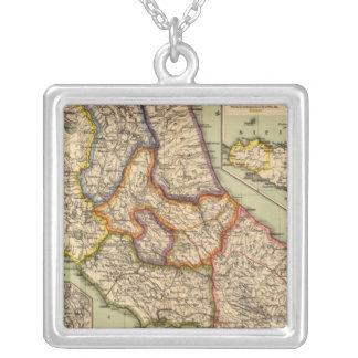 The middle part of Italy Silver Plated Necklace