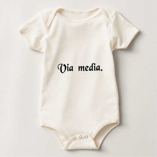 The middle way. baby bodysuit