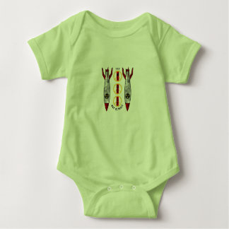 The Middle Way to Peace Baby Bodysuit