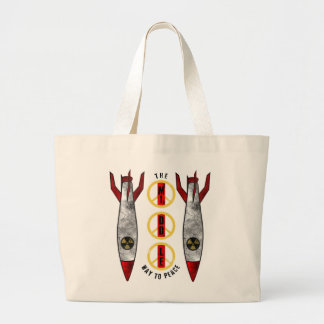 The Middle Way to Peace Large Tote Bag
