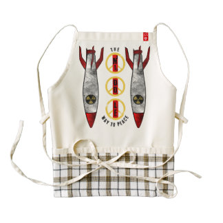 The Middle Way to Peace Zazzle HEART Apron